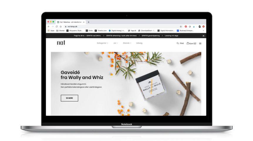Design og implementering af ny webshop til No1 Shop af Visuelt