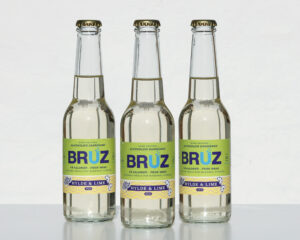Etikette design for BRUZ Hard Seltzer