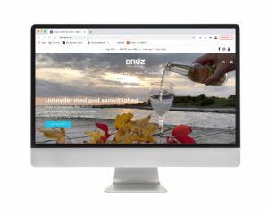 Design af website og webshop for BRUZ Hard Seltzer